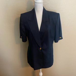 Vintage Christian Dior Short Sleeve Blazer Jacket